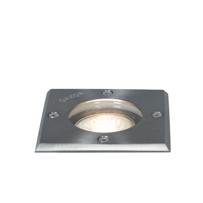 Foco-de-encastrar-chão-aço-10,5cm-IP65---BASIC-Square-