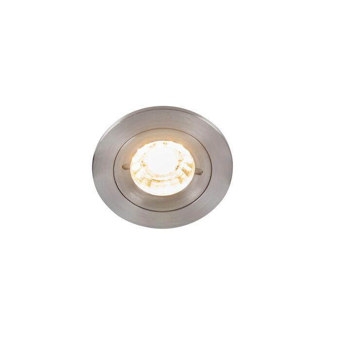 Foco-de-encastrar-moderno-alumínio-IP44---XENA-Round