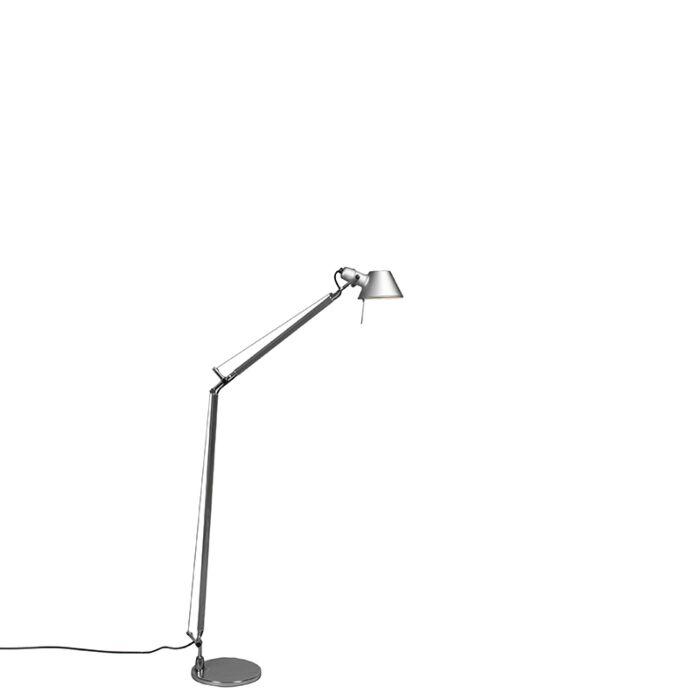 Luminária-de-pé-Artemide-ajustável-em-alumínio---Artemide-Tolomeo-Lettura
