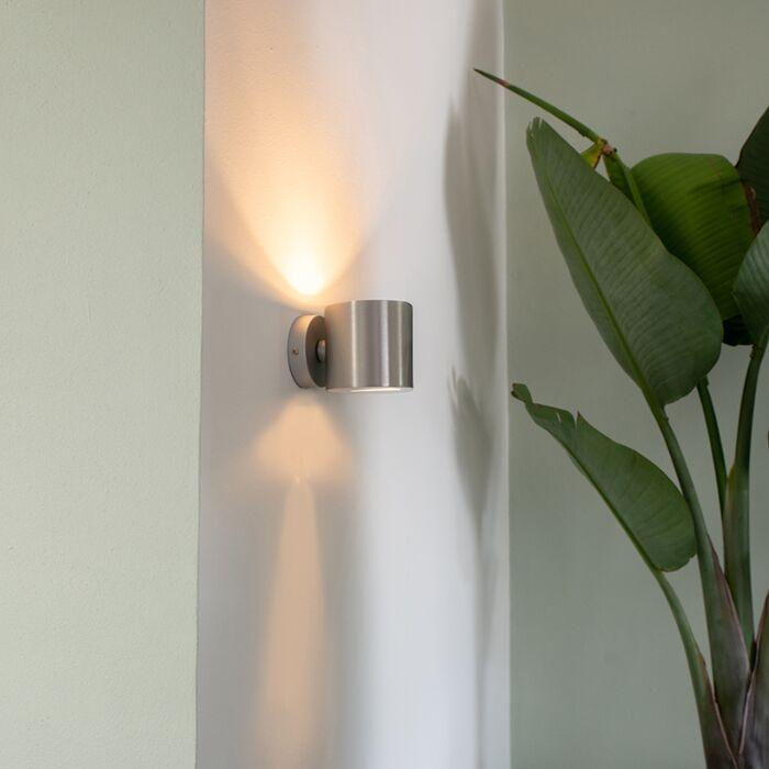 Lâmpada-de-parede-moderna-redonda-de-alumínio---Efeito
