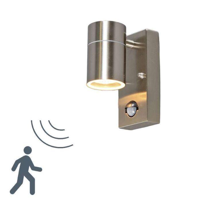 Luminária-de-parede-para-exterior-Solo-PIR-de-aço