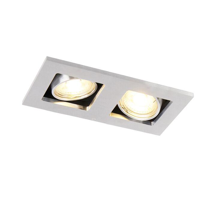 Foco-de-encastrar-retangular-embutido-2-luzes-alumínio---QURE