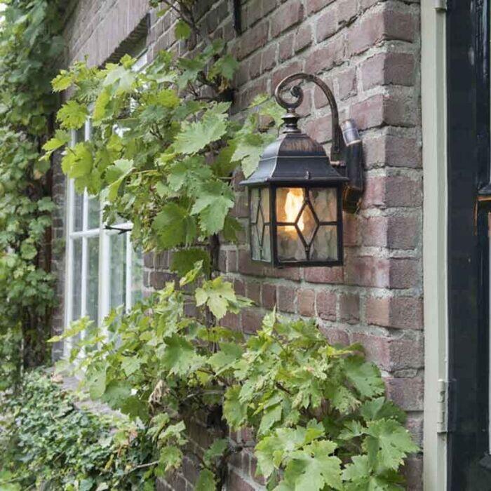 Lanterna-de-parede-externa-romântica-em-bronze---Londres
