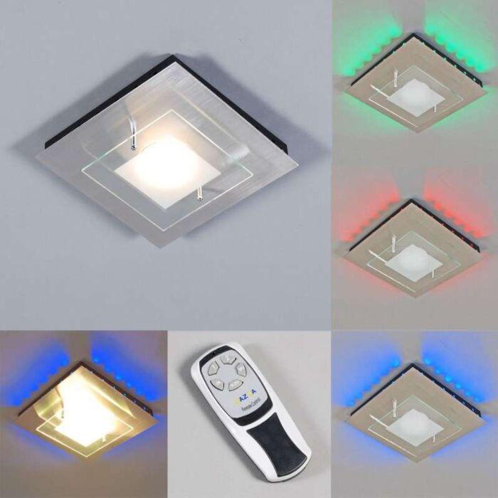 Lâmpada-de-teto-Placa-GX-RGB-LED-aço
