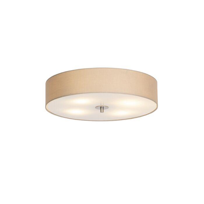 Luminária-de-teto-country-50-cm-bege---Tambor