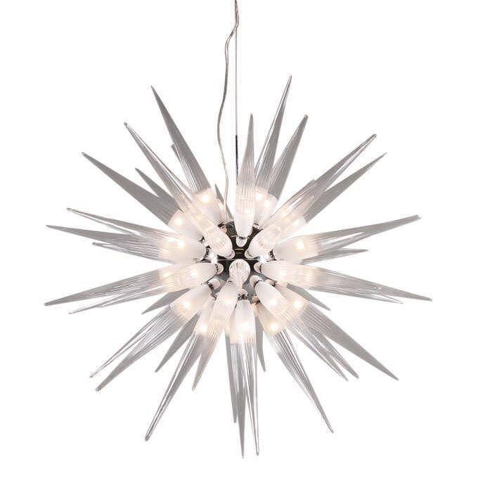 Candeeiro-suspenso-branco-Sun-45-luzes