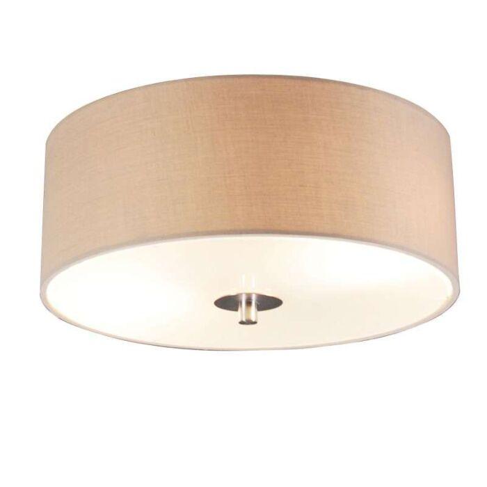 Luminária-de-teto-country-30-cm-bege---Tambor