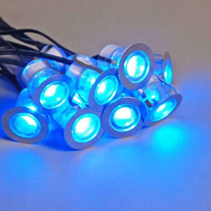 Komo-LED-conjunto-de-instalação-de-10-peças-IP65-azul