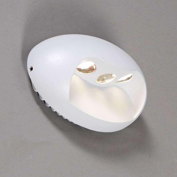 Lâmpada-de-parede-poste-LED-branco