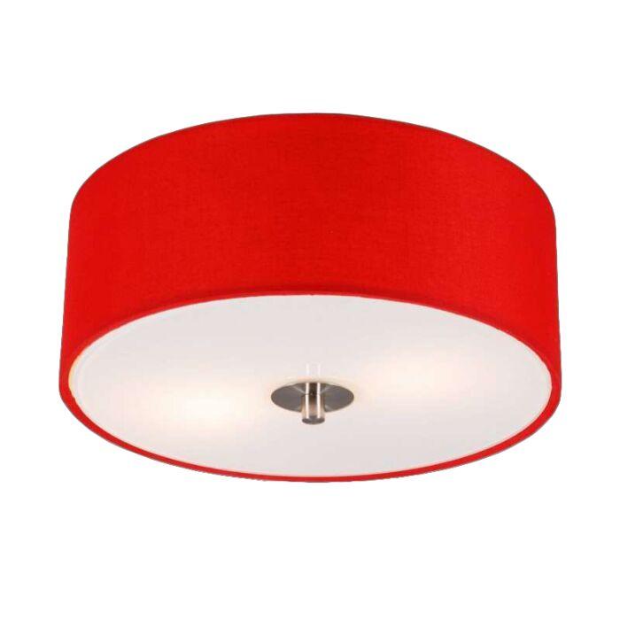 Candeeiro-de-tecto-moderno-vermelho-30-cm---Tambor