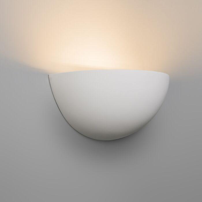 Luminária-de-parede-moderno-em-gesso-branco---Gipsy