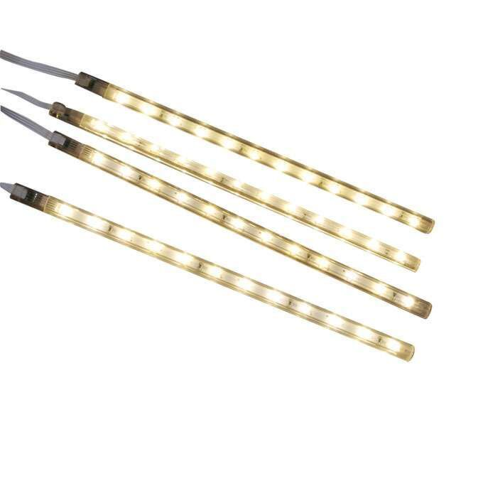 Conjunto-de-quatro-faixas-de-LED-branco-quente