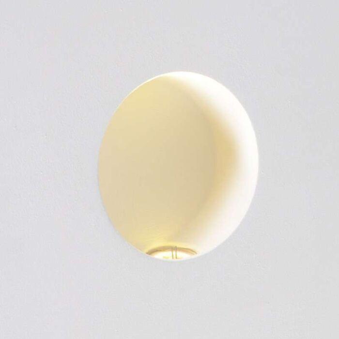 Candeeiro-de-parede-LED-Zero-redondo-embutido