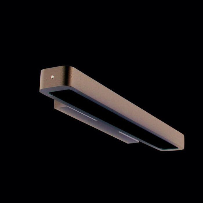 Luminária-de-parede-tubo-U-14W-prata
