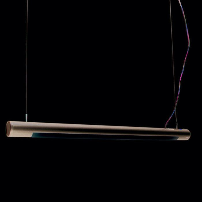 Lâmpada-suspensa-Tubo-O-prata-21W