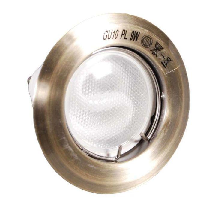 Foco-embutido-Queime-bronze-com-lâmpada-economizadora-de-energia
