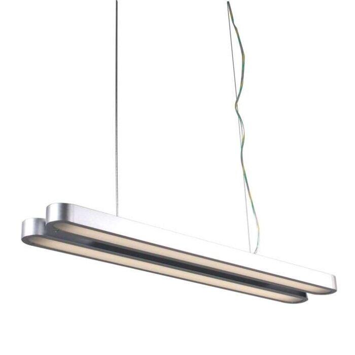 Lâmpada-suspensa-tubo-duplo-prata-21W