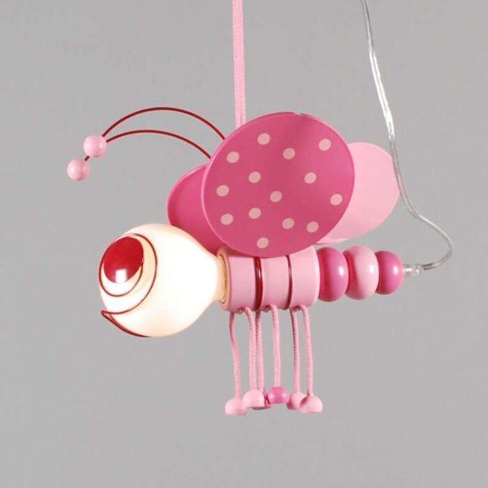 Candeeiro-de-suspensão-Kids-Bee-Pink
