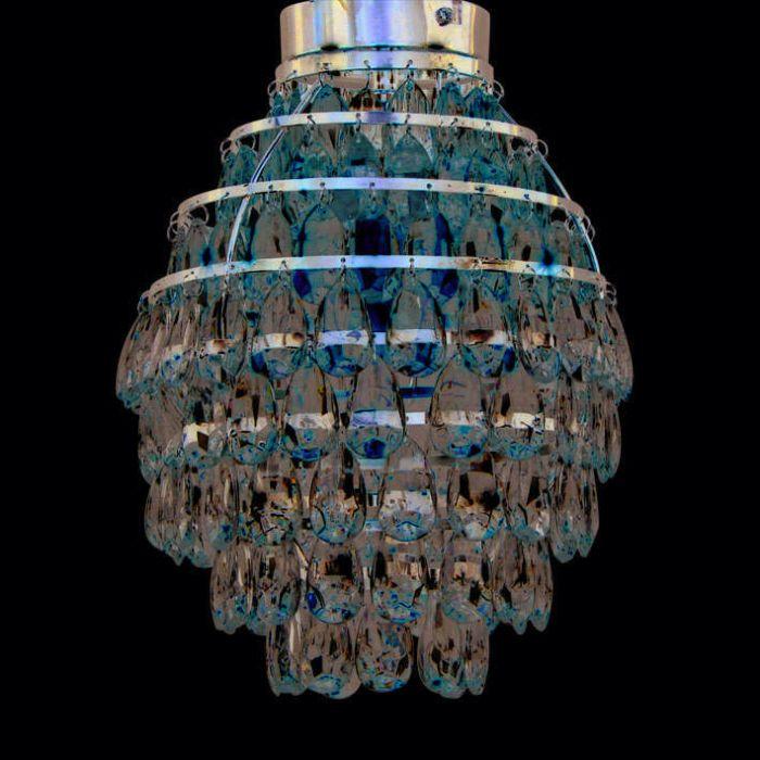Luminária-de-teto-Pinecone-cromada
