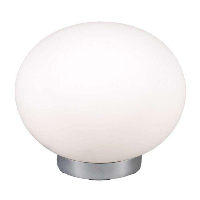 Candeeiro-de-mesa-Ball-24-aço-com-vidro-branco