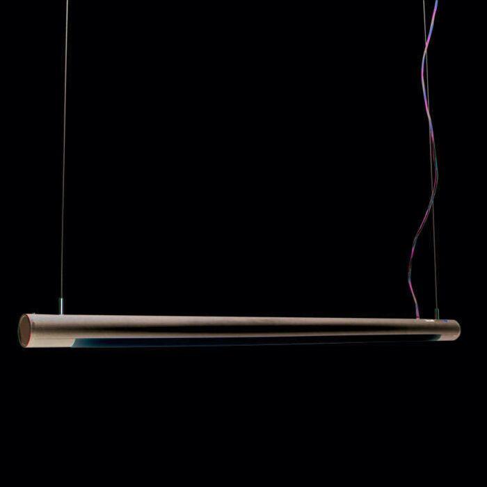 Lâmpada-suspensa-Tubo-O-prata-28W