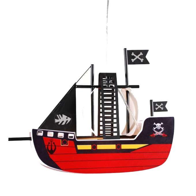 Candeeiro-de-suspensão-infantil-navio-pirata