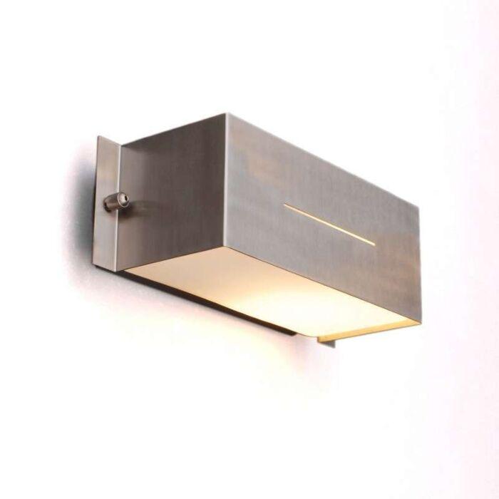 Candeeiro-exterior-Celine-de-parede-quadrada-em-aço-inoxidável