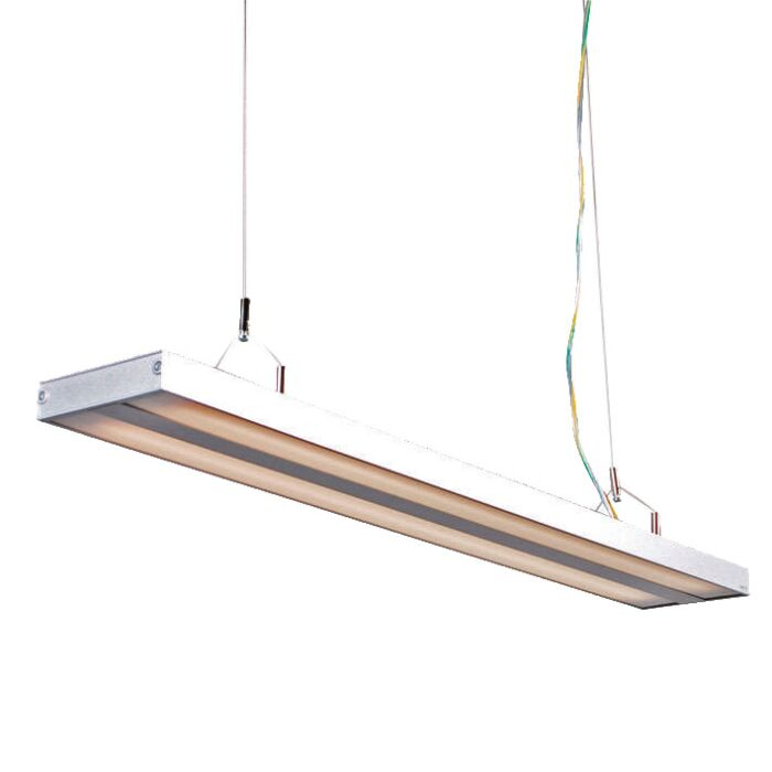 Lâmpada-suspensa-Tubo-S-prata-2-x-21W