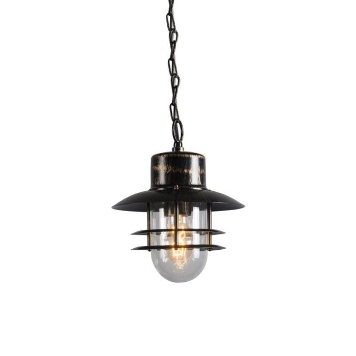 Lâmpada-suspensa-retrô-em-bronze---Shell