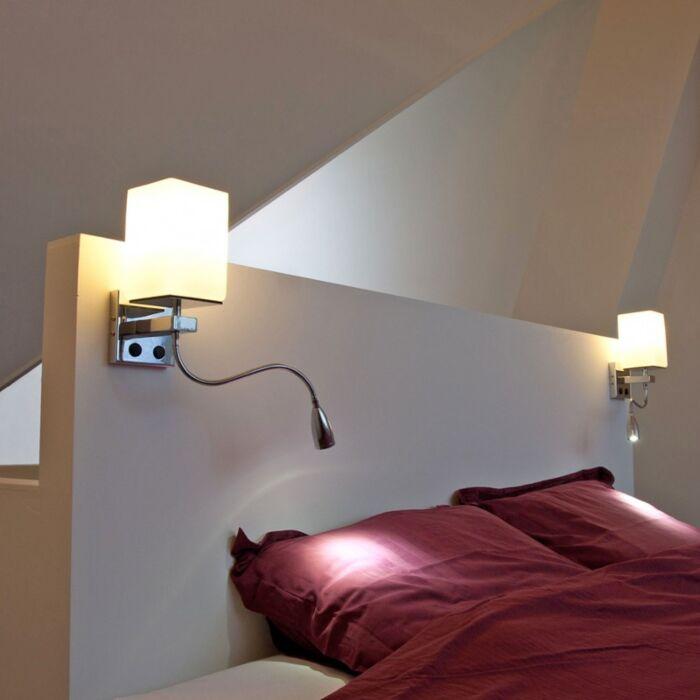 Candeeiro-de-parede-cromado-Brescia-com-vidro-branco