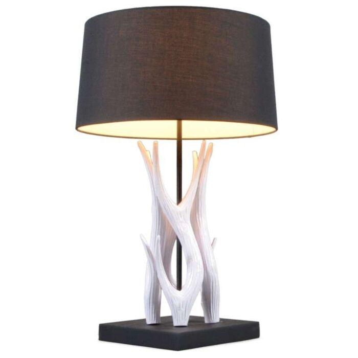 Candeeiro-de-mesa-Yindee-branco-com-sombra-preta