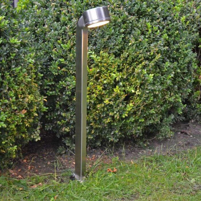 Candeeiro-de-exterior-Snake-pole-68-cm-em-aço-inoxidável