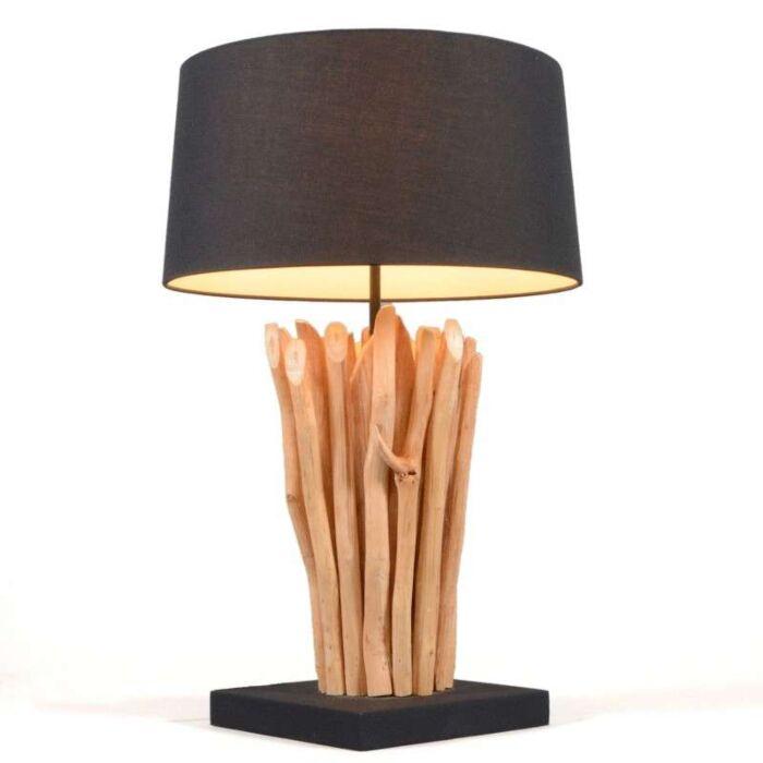 Candeeiro-de-mesa-Phatom-natural-com-sombra-preta