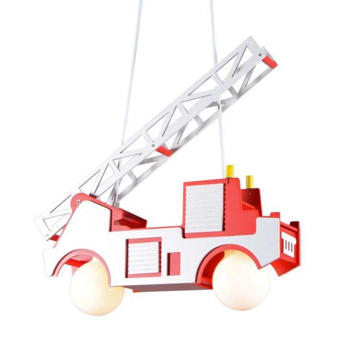 Lâmpada-suspensa,-viatura-de-incêndio-infantil