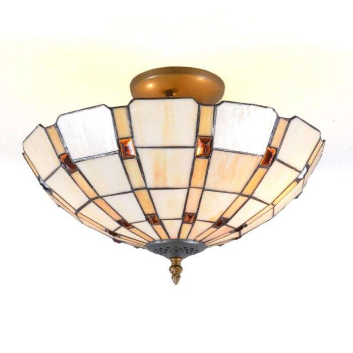 Luminária-de-teto-Tiffany-Liddesdale