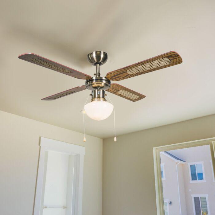 Ventilador-de-teto-industrial-com-lâmpada-100-cm-madeira---Vento
