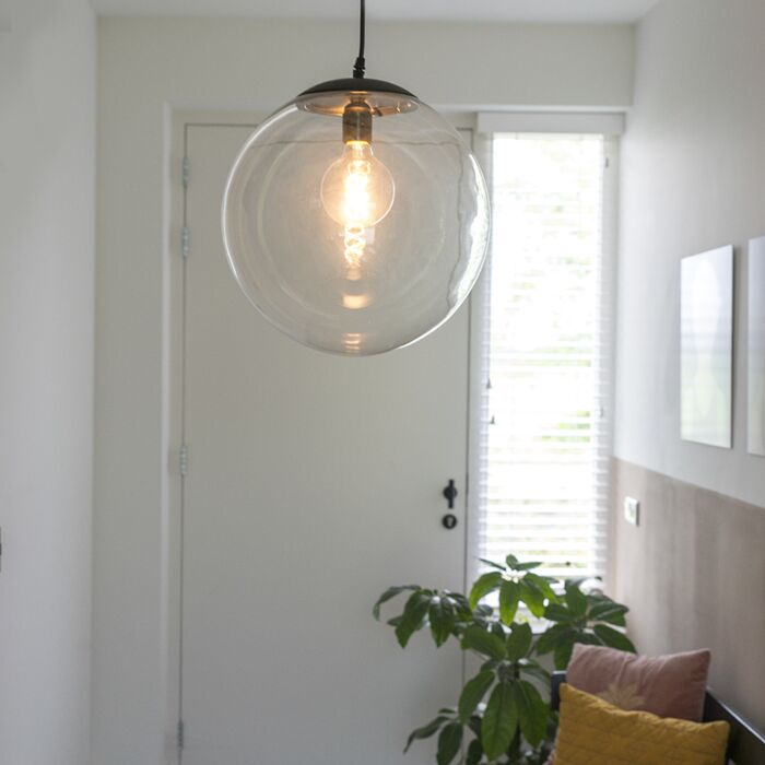 Candeeiro-de-suspensão-moderno-transparente-35-cm---Pallon