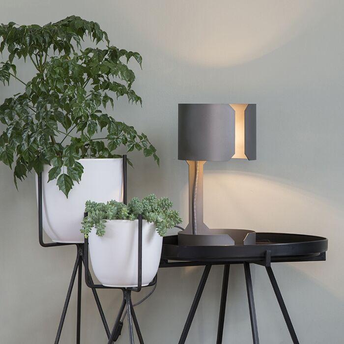 Candeeiro-de-mesa-design-em-aço-mate---Valsa