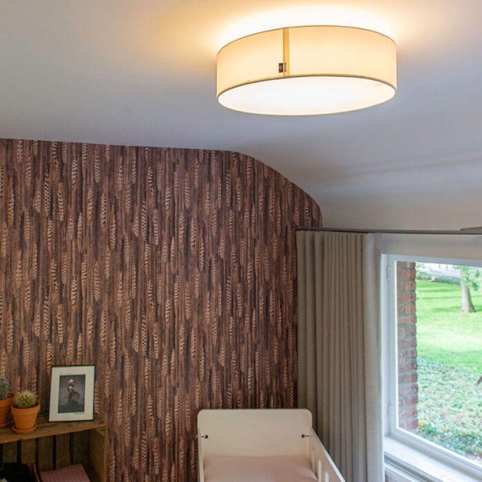 Candeeiro-de-teto-branco-40-cm-incl.-LED---Tambor-LED