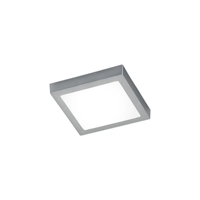 Candeeiro-de-teto-moderno-quadrado-em-aço-com-vidro,-incluindo-LED---Boy