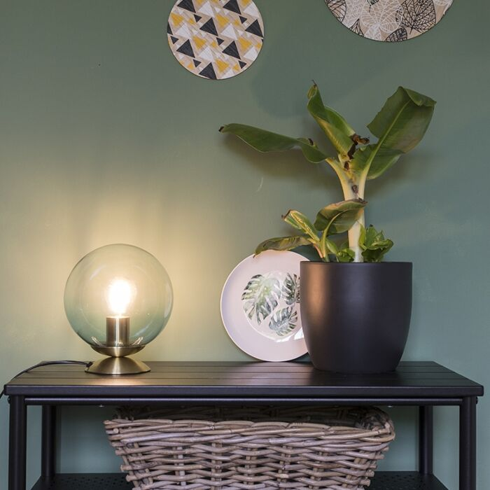 Candeeiro-de-mesa-Art-Déco-latão-vidro-azul---PALLON