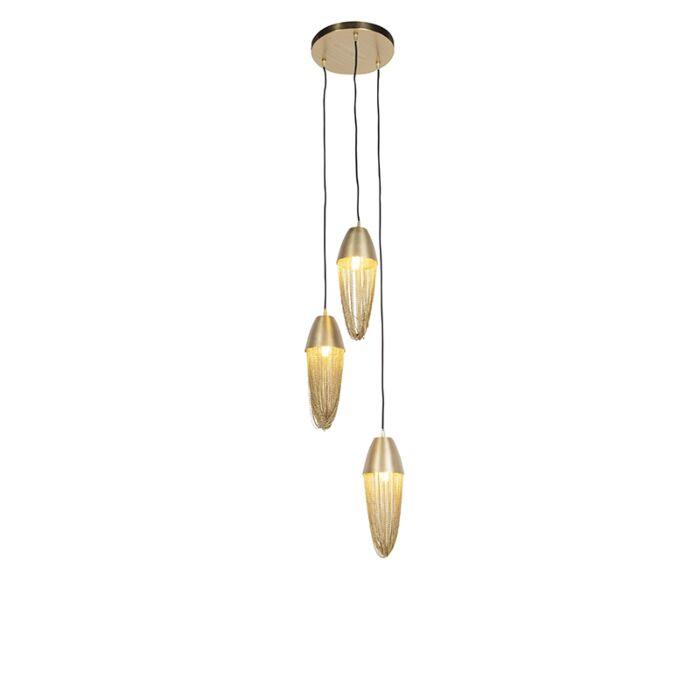 Candeeiro-de-suspensão-oriental-dourado-3-luzes---Catena